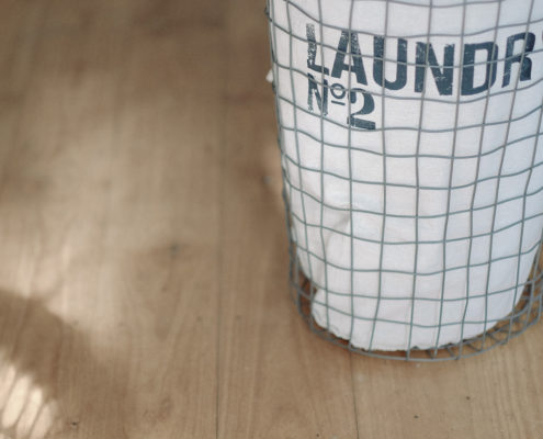 laundry basket -giving clean laundry